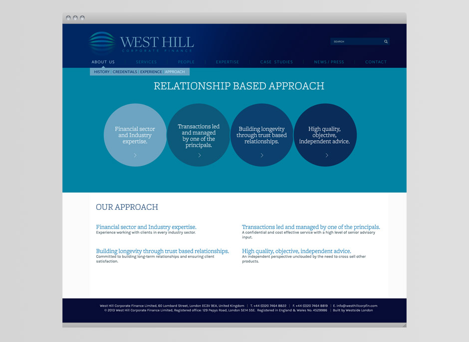 west hill corporate finance website