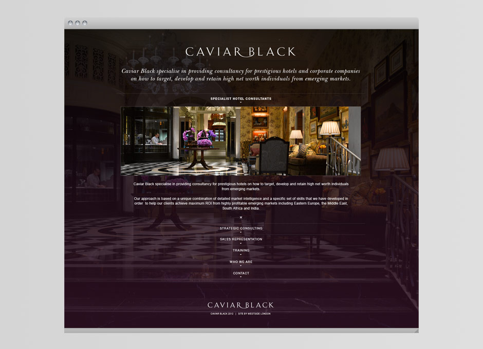 Caviar Black Website