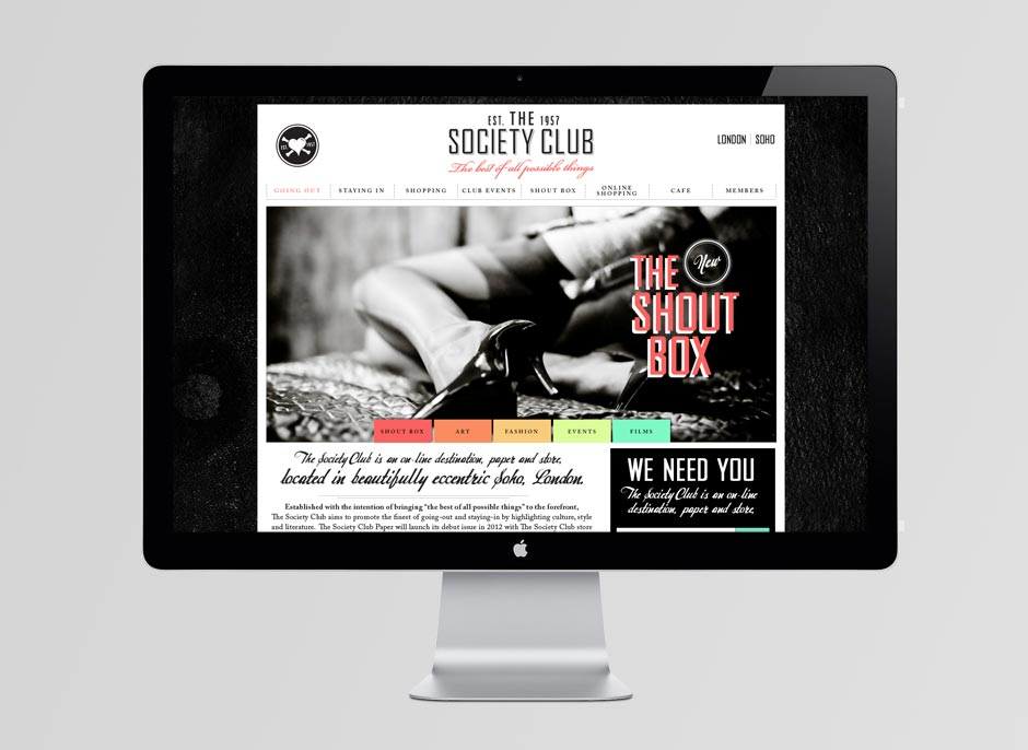 Society Club Website
